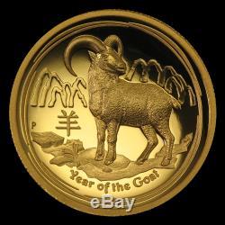 2015 Australia 1 oz Gold Lunar Goat Prf (UHR, SII, Box & COA) SKU #86570