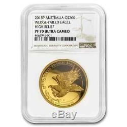 2015 Australia 2 oz Gold Proof Wedge Tailed Eagle NGC PF70 UC SKU#205156