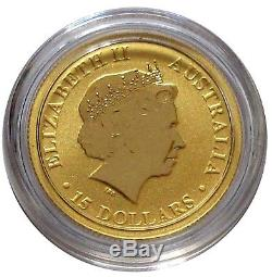 2015 Australian Kangaroo 1/10oz Gold Coin Gem BU FREE Shipping