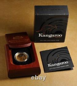 2015 Australian Kangaroo at Sunset $25 Gold Coin with OGP