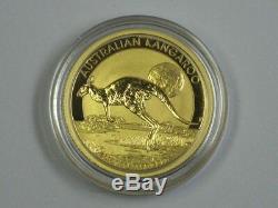 2015 GOLD Australia Kangaroo (& Full Moon) 1/4 oz. BU, Unc. Low Mintage +Capsule
