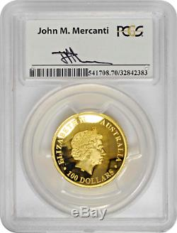 2015-P $100 Gold Wedge-Tailed Eagle High Relief PCGS PR70 DCAM Mercanti Signed