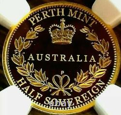 2015 Perth Mint Gold Sovereign Half NGC-PF70UC With Perth Mint Box Holder