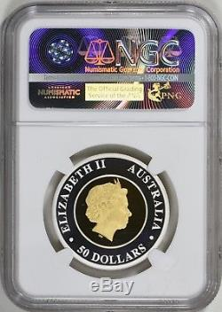 2016P Australian $50 Wedge-tailed Eagle Gold / Silver Bi-metal Coin NGC PF70 UC