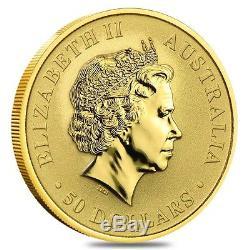 2016 1/2 oz Australian Gold Kangaroo Perth Mint Coin. 9999 Fine BU (In Capsule)