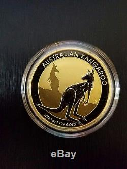 2016 1 oz Australian Gold Kangaroo Coin. 9999 Fine Perth Mint BU FREE SHIPPING
