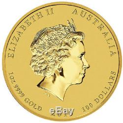 2016 1 oz Australian Gold Monkey Coin. 9999 fine (BU)