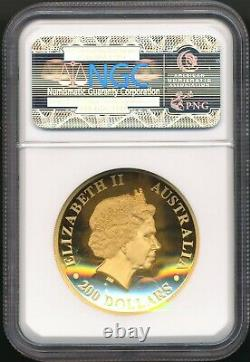 2016 $200 Australia 2 Oz. Gold Wedge Tailed Eagle High Relief Ngc Pf70 Ultra Cam
