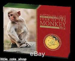 2016 $25 Australian Lunar Series Monkey 1/4 oz gold proof coin Perth Mint