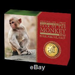 2016 Australia 1 oz Gold Lunar Monkey Proof (HR, Box & COA) SKU #94178