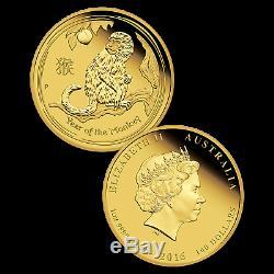 2016 Australia 1 oz Gold Lunar Monkey Proof (withbox & COA) SKU #92780