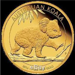 2016 Australian Koala 1/10oz Gold Proof Coin Perth Mint
