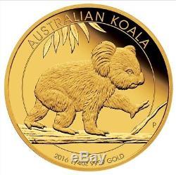 2016 Australian Koala 1/4oz Gold Proof Coin Perth Mint