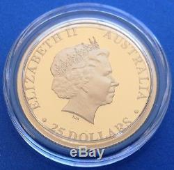 2016 Australian Koala Gold Coin. Proof. $25 Aud. 1/4 Oz. 9999 Fine. Perth