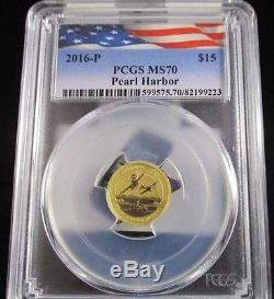 2016-P 1//10 Oz Gold Australia $15 PEARL HARBOR .9999 Coin.