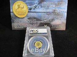 2016-P $15 Pearl Harbor Perth Mint 1/10 oz. 9999 Gold Coin PCGS MS70 eBucks