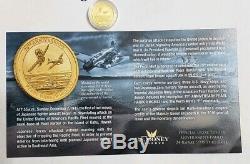 2016-P 1/10 Oz Gold Australia $15 PEARL HARBOR. 9999 Coin