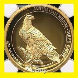 2016 P 1 oz 9999 gold wedge tailed eagle NGC PF 70 UCAM Mercanti MINT BOX COA