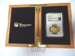 2016-P Australia 1 oz Gold $100 Coin, Eagle High Relief, NGC PF70 Ultra Cameo