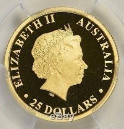 2016-P Australia $25 Gold Koala, PCGS PR70 DCAM, 1/4 oz First Strike Label