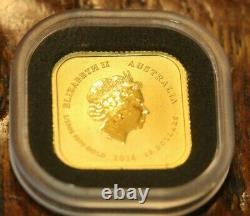 2016 Perth Mint Australian Gold Square MAP 1/10 OZ $15 Coin
