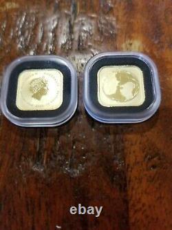 2016 Perth Mint Australian Gold Square MAP 1/10 OZ $15 Coin
