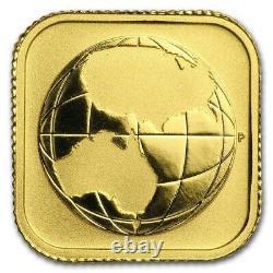 2016 Perth Mint Australian Gold Square MAP 1/10 OZ $15 Coin Excellent Specimen