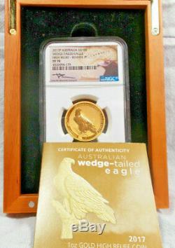 2017P Australia Wedge-Tailed Eagle Gold PF 70 Reverse Proof Ultra Cameo Mercanti