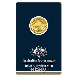 2017 1/10 oz Gold Kangaroo Coin Royal Australian Mint Veriscan. 9999 Fine In As