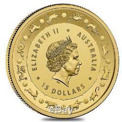 2017 1/10 oz Gold Lunar Year of the Rooster Coin. 9999 Fine BU Australian Roya