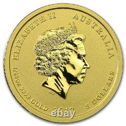 2017 1/20thOZ. PURE. 9999 GOLD YEAR of the ROOSTER PERTH MINT GEM $198.88