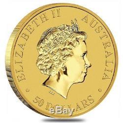 2017 1/2 oz Australian Gold Kangaroo Perth Mint Coin. 9999 Fine BU In Cap