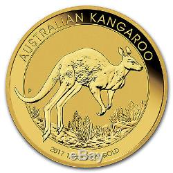 2017 1/2 oz Gold Australian Kangaroo Coin. 9999 Fine Brilliant Uncirculated BU