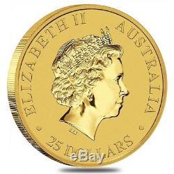 2017 1/4 oz Australian Gold Kangaroo Perth Mint Coin. 9999 Fine BU In Cap