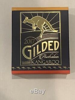 2017 1 oz Australian Silver Kangaroo Coin (Gilded, BU with CoA)