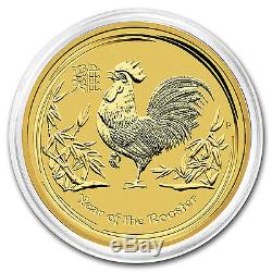 2017 1 oz Gold Lunar Year of the Rooster Perth Mint BU SKU #102651