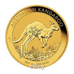 2017 1oz Australian Gold Kangaroo $100 Coin. 9999 Fine BU