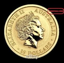 2017 Australian Kangaroo 1/10 Oz. 9999 Pure Fine Gold Coin Air-tite Capsule