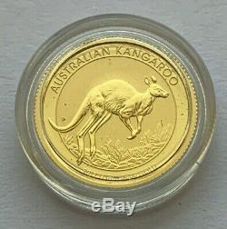 2017 Australian Kangaroo 1/10 Oz Gold 15 Dollars Coin