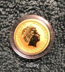 2017 Gold Australian Kangaroo Coins 1/10 Ounce. 9999 (in case)