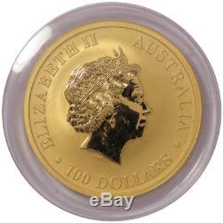 2017-P $100 Australian Gold Kangaroo 1 oz. 9999 Fine Gold BU in Cap
