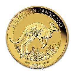 2017 Perth Mint Australian Kangaroo 1 oz Gold Coin In Mint Air-Tite Case