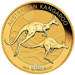 2018 $100 1oz Gold Australian Kangaroo. 9999 BU