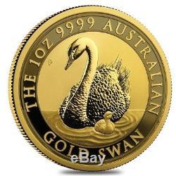 2018 1 oz Australian Gold Swan Perth Mint Coin. 9999 Fine BU In Cap