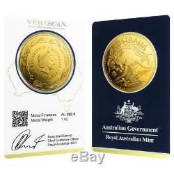 2018 1 oz Gold Kangaroo Coin Royal Australian Mint Veriscan. 9999 Fine In
