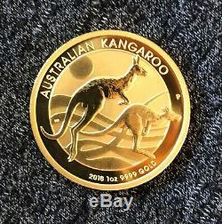 2018 1oz Gold Australian Kangaroo. 9999 BU