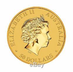 2018 $50 1/2oz Gold Australian Kangaroo. 9999 BU