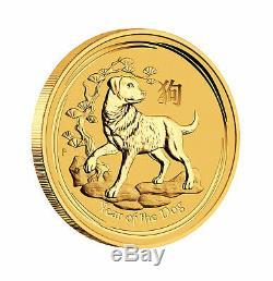 2018 $50 1/2oz Gold Australian Year of the Dog