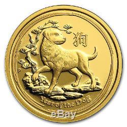 2018 Australia 1/10 oz Gold Lunar Dog Proof (withbox & COA) SKU#154352