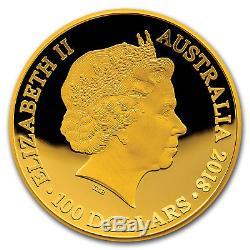 2018 Australia 1 oz Gold $100 Map of the World Western Hemisphere SKU#172113